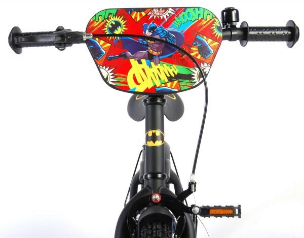 Bicicleta Volare pentru baieti 14 inch cu roti ajutatoare Batman