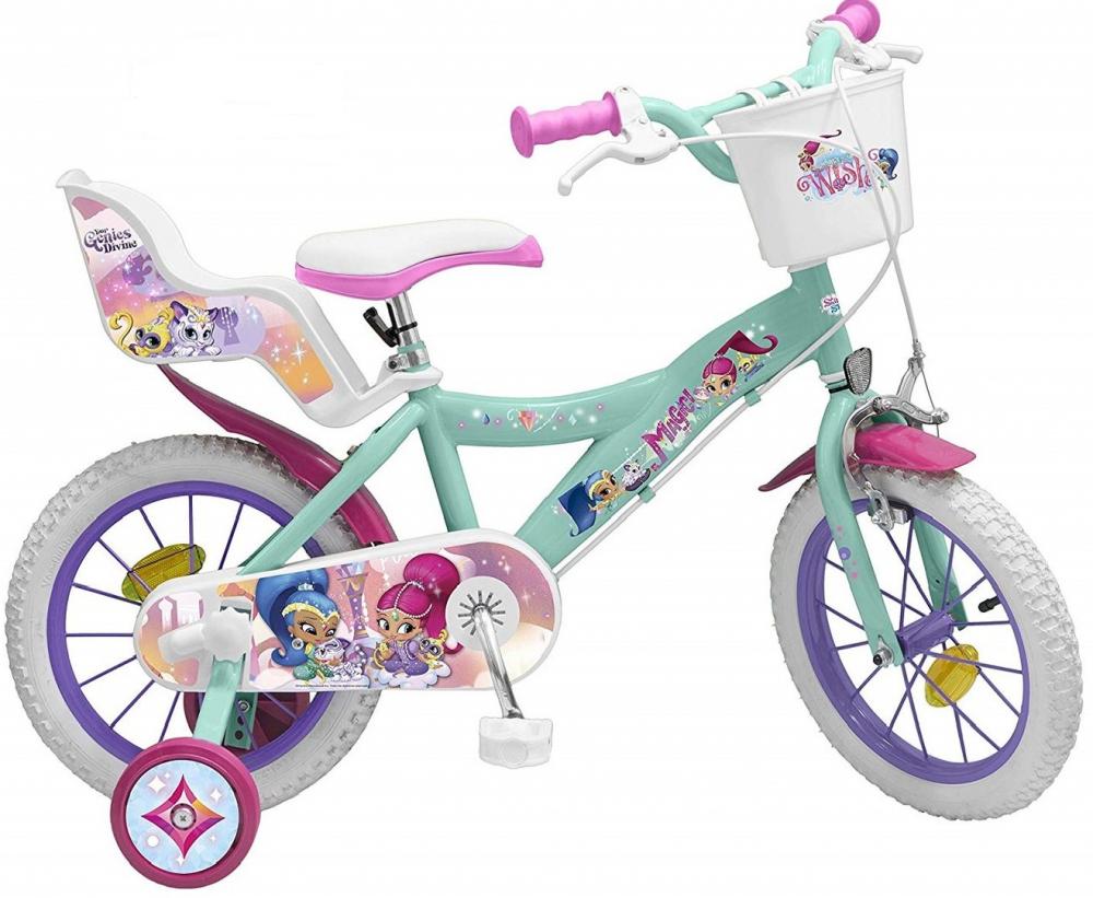 Bicicleta copii Toimsa Shimmer Shine 14 inch din categoria La Plimbare de la Shimmer & Shine