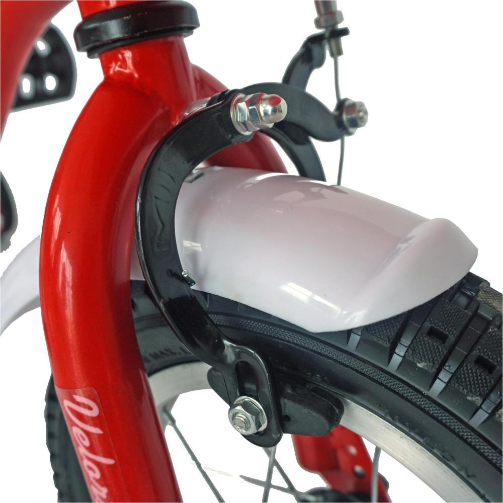 Bicicleta copii 14 Velors V1402A cadru otel rosualb si roti ajutatoare