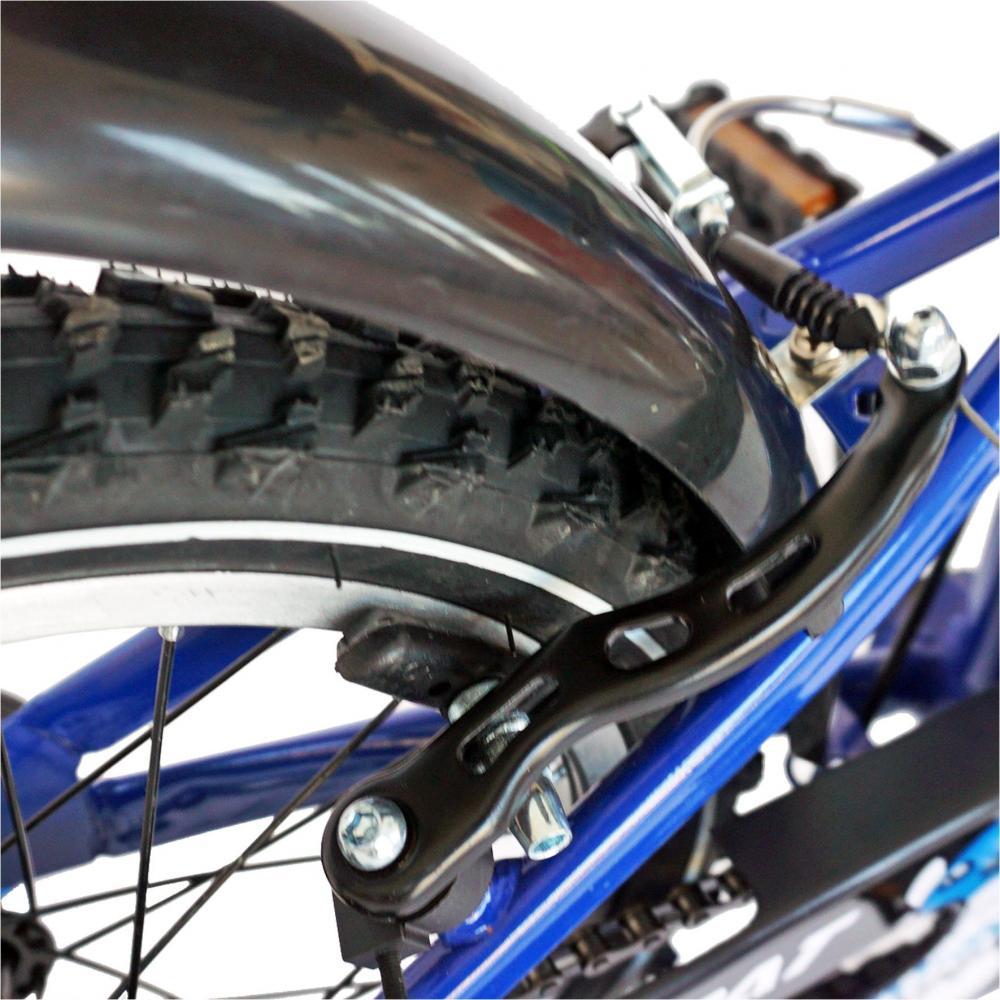Bicicleta copii 16 Carpat C1601C cadru otel albastrunegru si roti ajutatoare