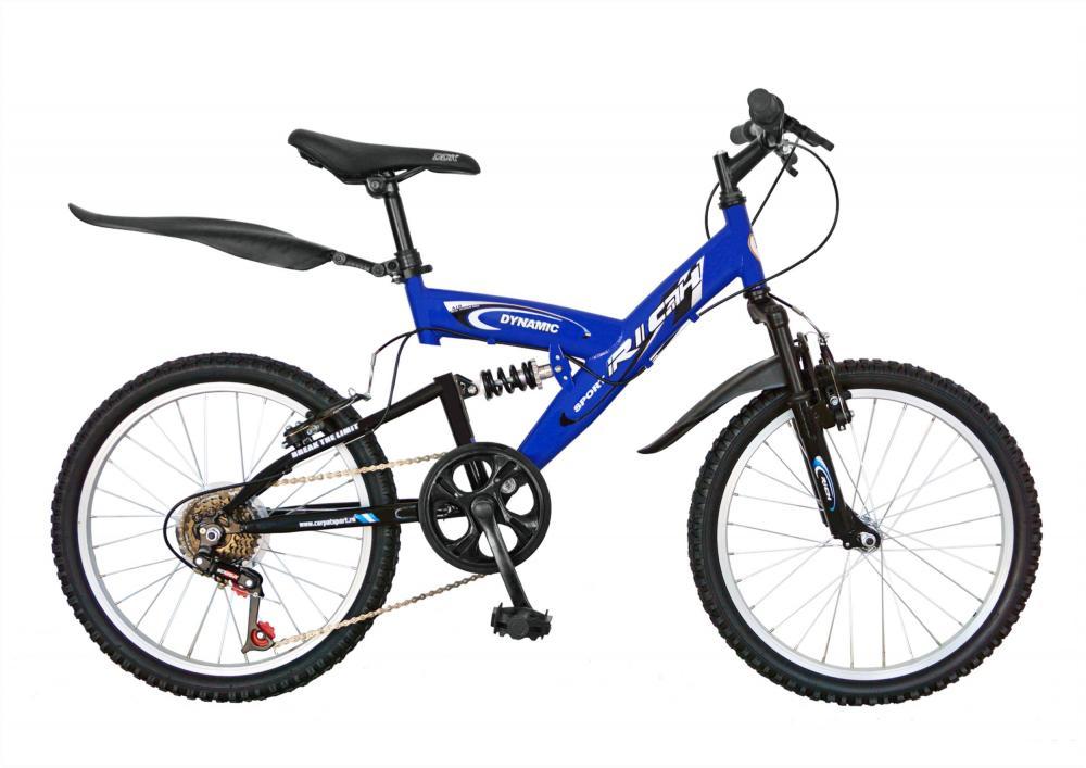 Bicicleta copii MTB-FS 20 Rich R2048A cadru otel albastru alb