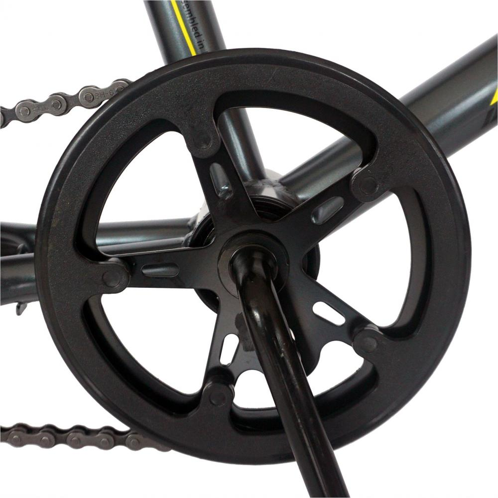 Bicicleta model BMX 20 Carpat Rocker C2018A cadru otel grigalben