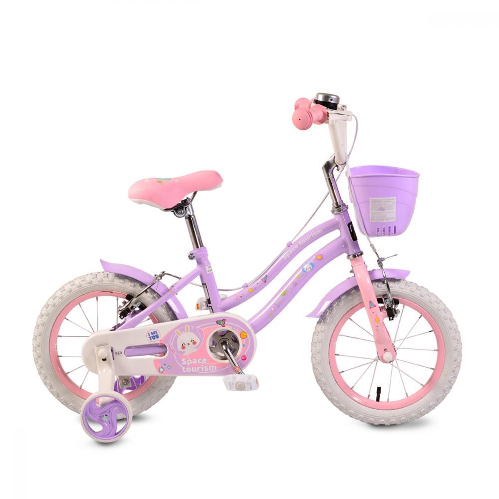 Bicicleta pentru fetite Moni Space tourism 14 inch Purple