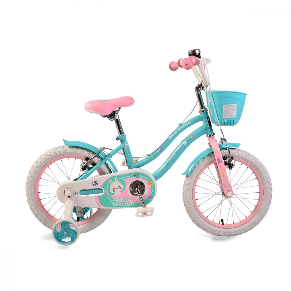 Bicicleta pentru fetite Moni Space Tourism 16inch Turquoise