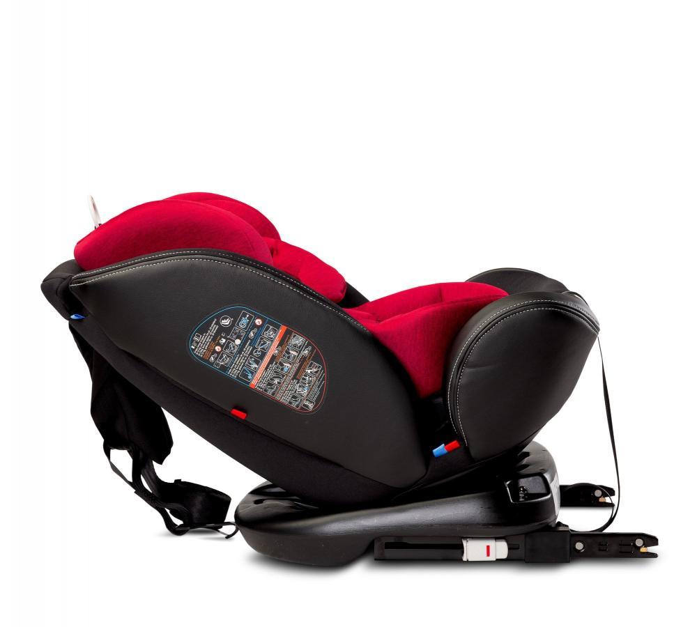 Scaun auto rotativ Caretero Mundo 0-36 kg isofix rosu imagine
