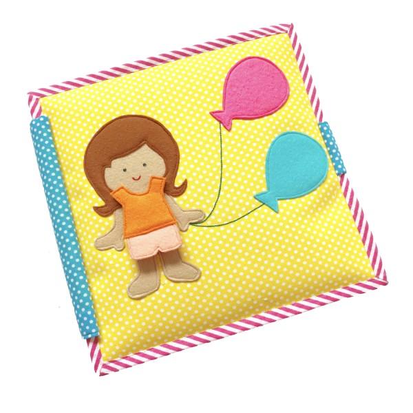 Carte educativa din fetru cu activitati pentru bebelusi si copii Balloon Girl