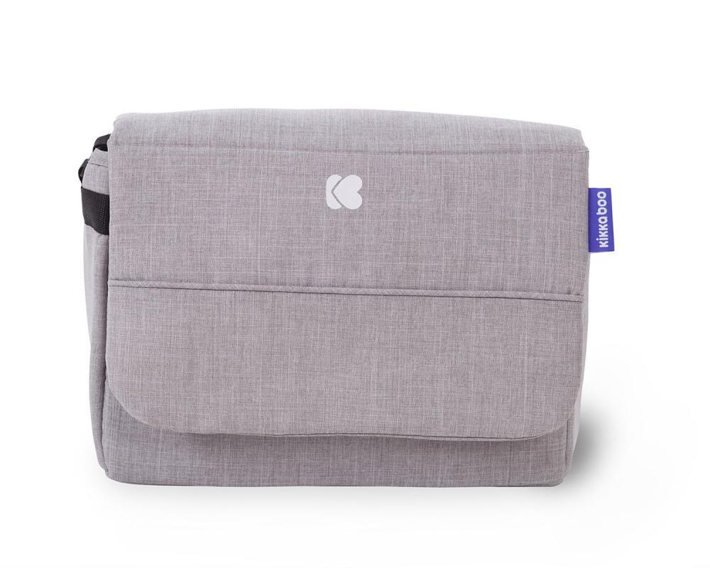 Carucior cu husa picioare si geanta mamici Airy Grey Melange - 2