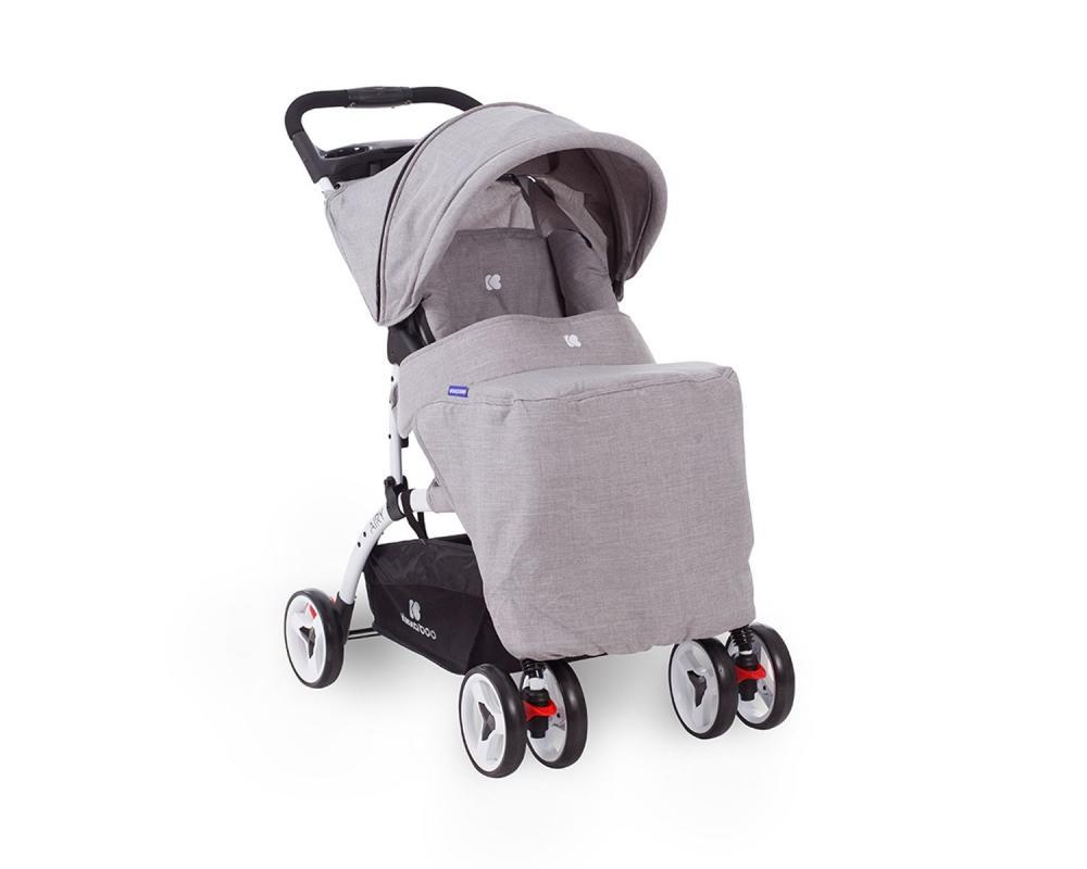 Carucior cu husa picioare si geanta mamici Airy Grey Melange - 6