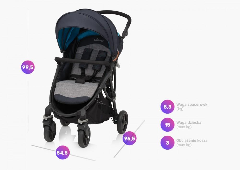 Carucior sport Baby Design Smart 5 Turquoise 2019 - 6