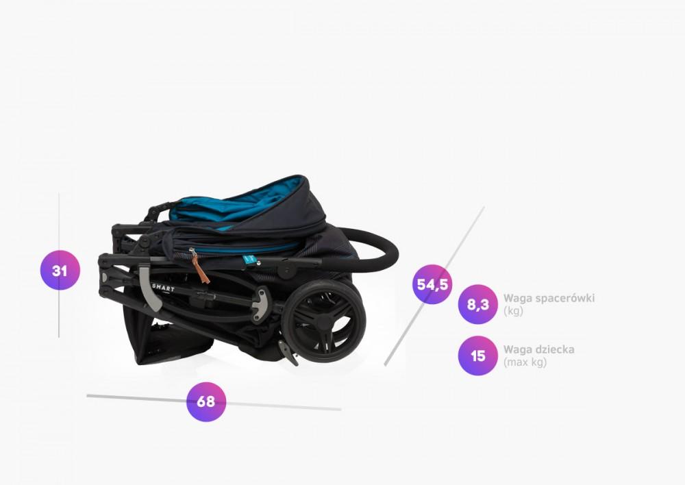 Carucior sport Baby Design Smart 5 Turquoise 2019 - 7