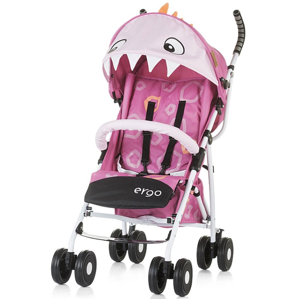 Carucior sport Chipolino Ergo pink baby dragon - 4