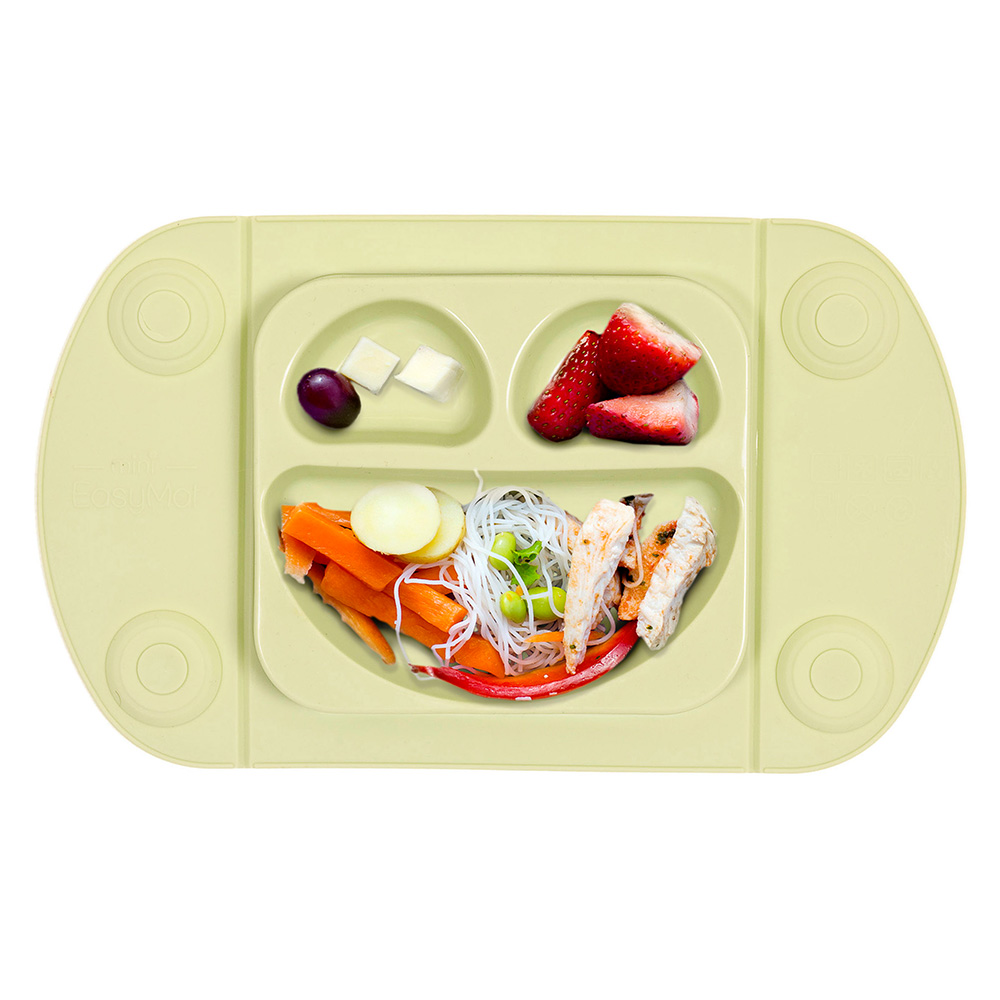Farfurie autodiversificare portabila Easymat Mini Verde Olive