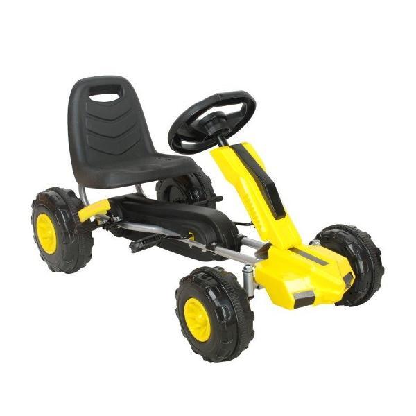 Kart cu pedale A Piccolino galben imagine