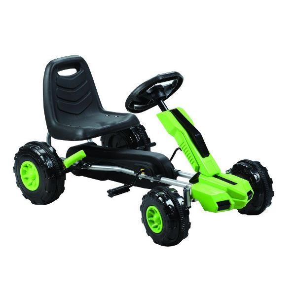 Kart cu pedale A Piccolino verde imagine