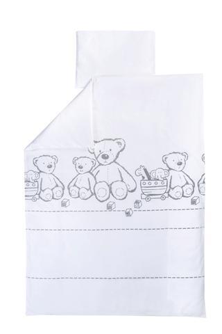 Lenjerie patut 2 piese Teddy Bear - 100 bumbac