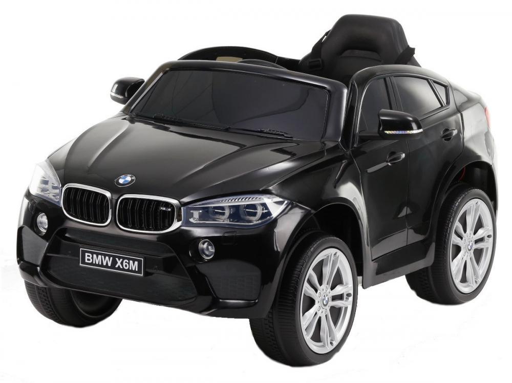 Masinuta electrica cu telecomanda si roti din cauciuc BMW X6M Black - 6
