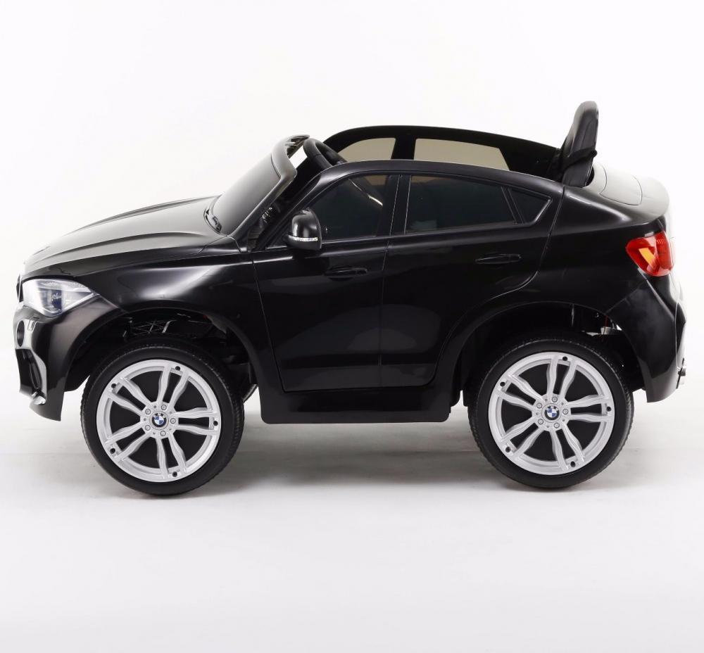 Masinuta electrica cu telecomanda si roti din cauciuc BMW X6M Black - 5
