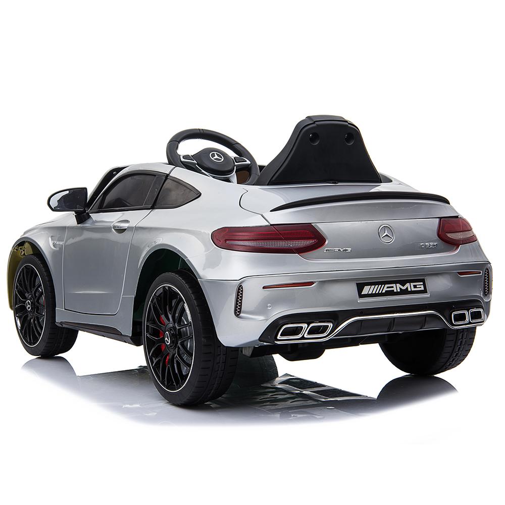 Masinuta electrica cu roti din cauciuc si deschidere usi Mercedes Benz C63s Silver - 6