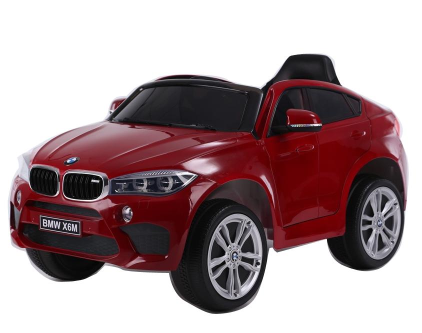 Masinuta electrica cu telecomanda si roti din cauciuc BMW X6M Red - 7