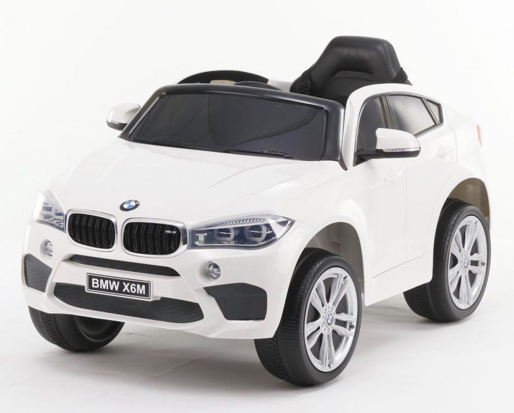 Masinuta electrica cu telecomanda si roti din cauciuc BMW X6M White