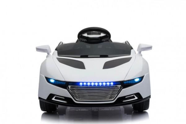 Masinuta electrica pentru copii Concept Car A228 alba 6V cu telecomanda parinte