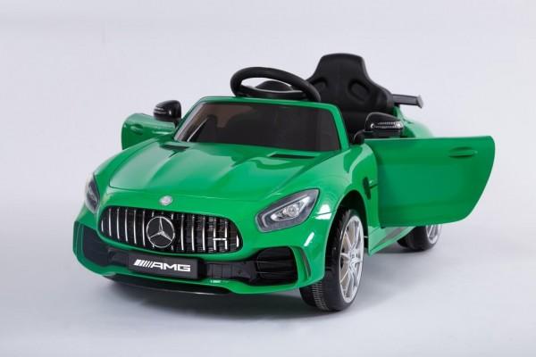 Masinuta electrica pentru copii Mercedes Benz GTR AMG Coupe verde 6V cu control parental telecomanda