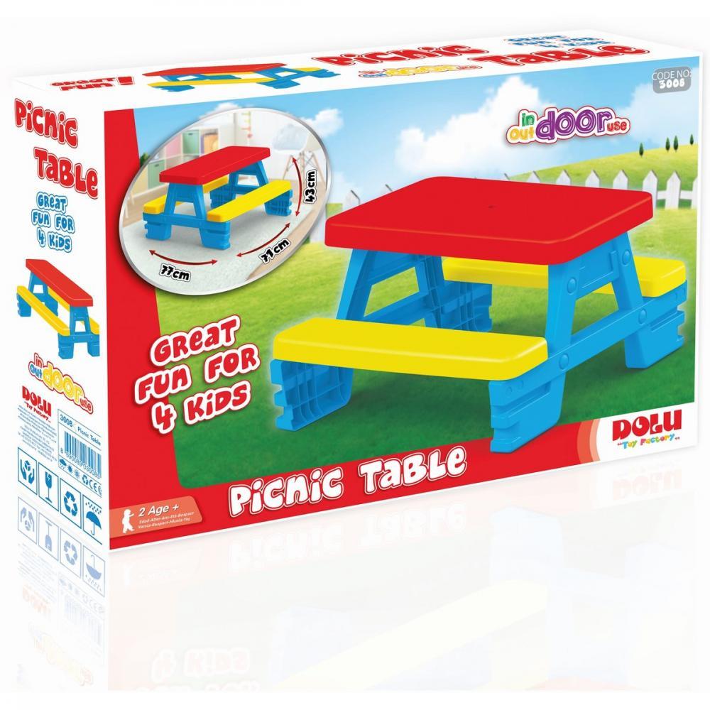 Masa cu bancute pentru 4 copii Dolu