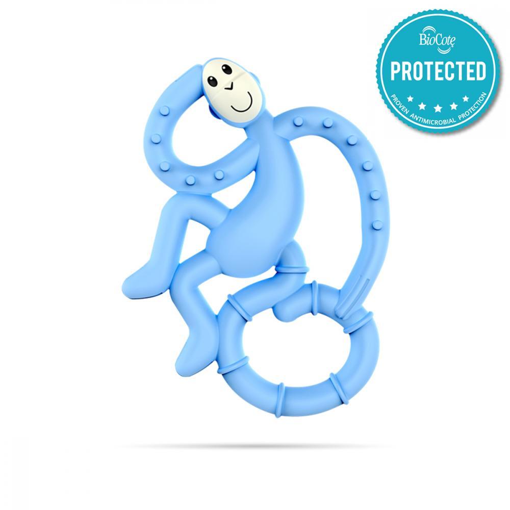 Mini Maimutica pentru dintisori, tratata antibacterian Bleu