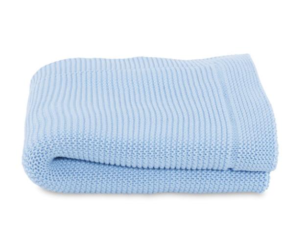 Paturica tricot pentru patuturi Chicco Ocean 0luni+
