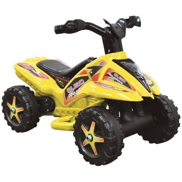 Quad copii cu pedala acceleratie galben imagine