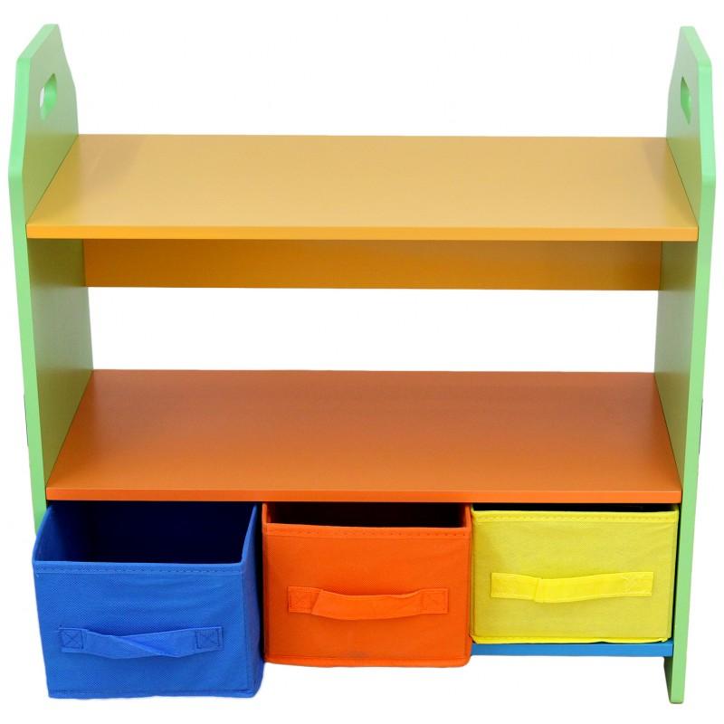 Raft carti si jucarii cu cadru din lemn Green Crayon imagine