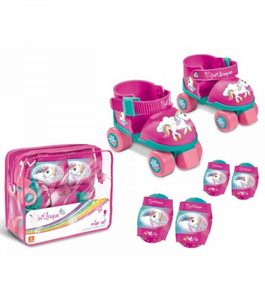 Role copii Mondo Unicorn ajustabile 4 roti cu protectii imagine