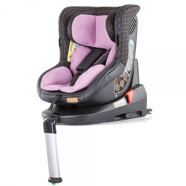Scaun Auto Chipolino Toledo 0-18 Kg Rose Cu Sistem Isofix Si Sezut Rotativ