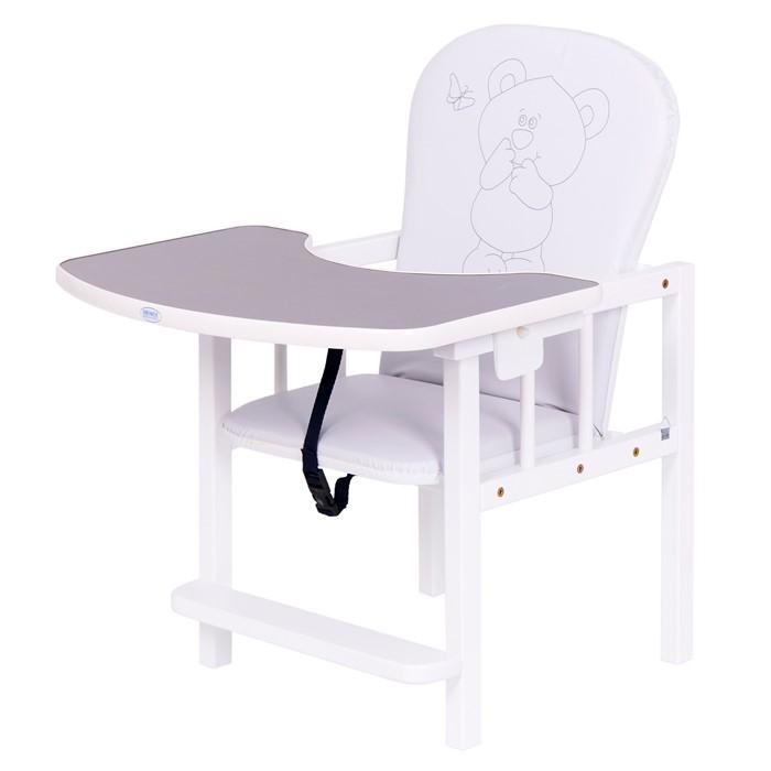 Scaun de masa 2 in 1 pentru copii Antos Bear Silver