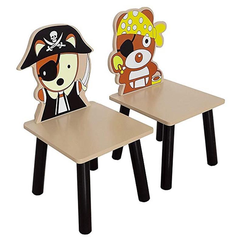 Set masuta si 2 scaunele Pirate Brown imagine