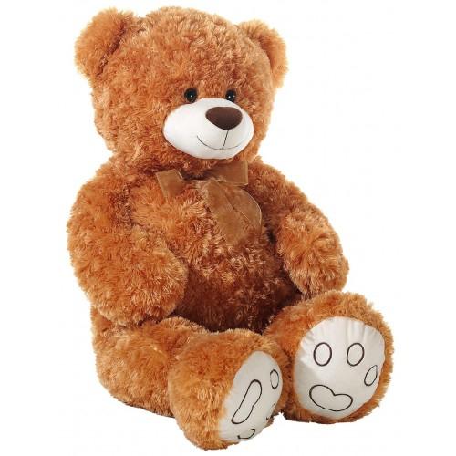 Ursulet din plus Curly Maro 100 cm
