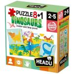 Puzzle dinozauri 8+1