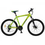 Bicicleta MTB-HT 26 Carpat Explorer C2656C cadru aluminiu verde/albastru