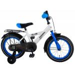 Bicicleta Volare pentru baieti 14 inch Thombike Alb cu Albastru