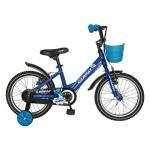 Bicicleta copii 16 Carpat C1601C cadru otel albastru/negru si roti ajutatoare