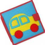 Carte educativa din fetru cu activitati pentru bebelusi si copii The Fast Car