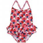 Costum de baie rosu pentru fetite 24 luni