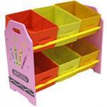 Organizator jucarii cu cadru din lemn Pink Crayon