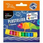Plastelina 12 culori Kidea