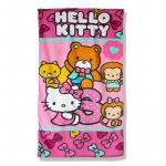 Prosop de baie sau plaja 70x140 cm friends Hello Kitty