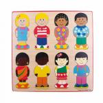 Puzzle din lemn micutii prieteni