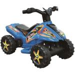 Quad copii cu pedala acceleratie albastru