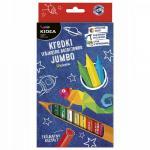 Set jumbo 12 creioane colorate Kidea