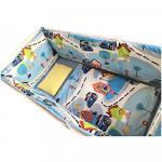 Set de aparatori pufoase h39 pat 140x70 cm DeLuxe Oraselul copiilor