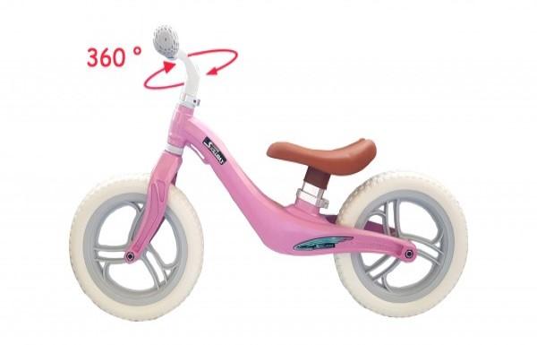 Bicicleta fara pedale 12 inch Roz